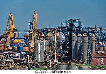 stockage, port maritime