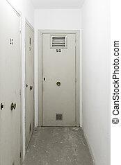 stockage, portes, fermé