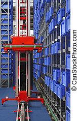 stockage, robot, automatisé