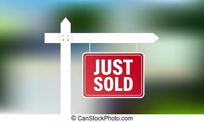 stockage, tag., illustration., juste, design., signe, vendu, commercialisation, vente