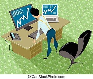 stockbroker, escritório