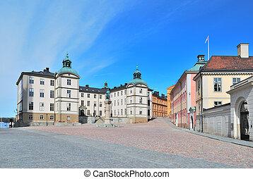 Stockholm. Birger Jarl Area on the Island Riddarholmen