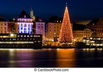 stockholm., boże narodzenie