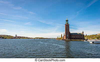 Stockholm city hall in summer