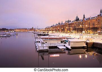 Stockholm Cityscape at dusk
