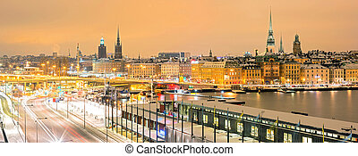 Stockholm Cityscape panorama - Panorama Stockholm Skyline...