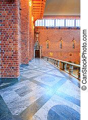 Interior of Blue Hall