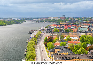 Stockholm in a cloudy summer day