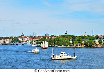 Stockholm in a summer sunny day