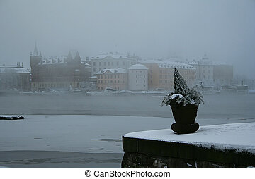 Stockholm in Fog