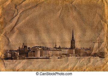 Stockholm in retro style