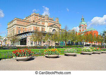Stockholm in spring - Beautiful Stockholm in a sunny spring...