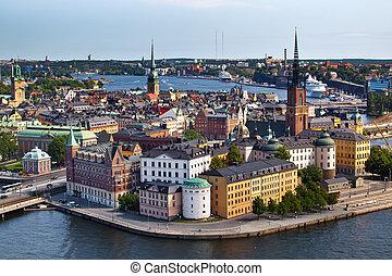 stockholm, klassisch, schweden, ansicht
