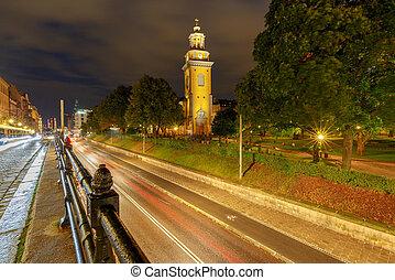 stockholm., magdalene, mary, night., 教会