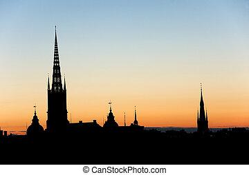 stockholm, nuit