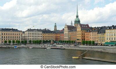 """stockholm old city view, sweeden"""