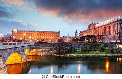 Stockholm - Royal palace and Riksdag, Sweden
