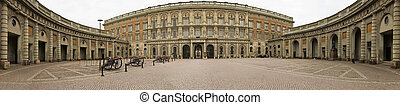 Stockholm Royal Palace - Panoramic view of the Royal Palace...