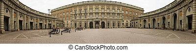 Stockholm Royal Palace - Panoramic view of the Royal Palace...