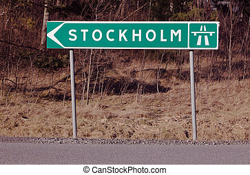 Stockholm signpost