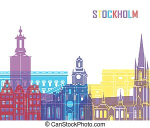 Stockholm skyline pop
