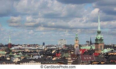 Stockholm city panorama.