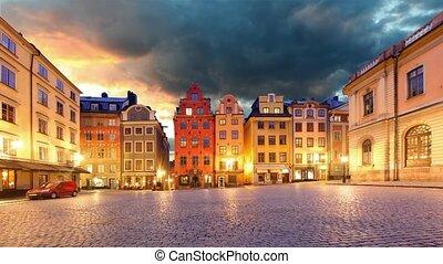 Stockholm - Stortorget place, Tim lapse