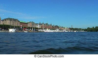 stockholm, suède, mer, croisière