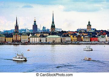 Stockholm Sweden Cityscape - Stockholm, Sweden cityscape...