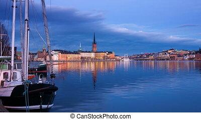 Stockholm, Sweden, Europe  at dusk