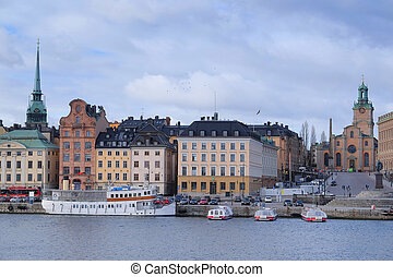 passenger ship - Stockholm, Sweden - March, 16, 2016:...