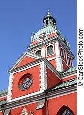 Stockholm, Sweden - Saint James's Church in Norrmalm...