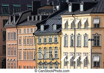 Stockholm, Sweden. View of famous Gamla Stan (the Old Town).