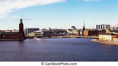 Stockholm time-lapse day Town hall