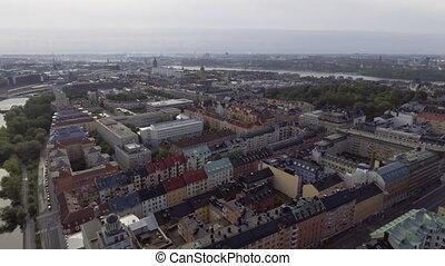stockholm, vue, suède