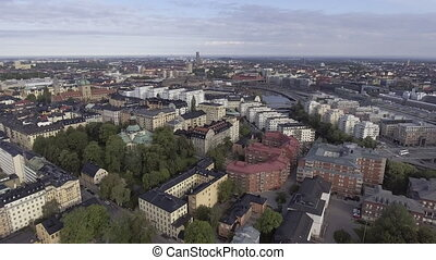 stockholm, vue ville, aérien