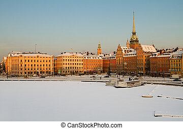 Stockholm winter image.