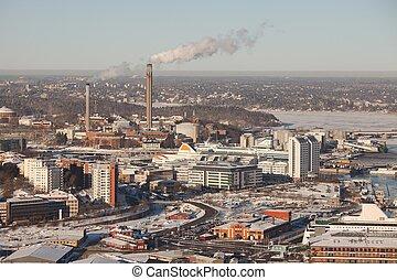 Stockholm winter view