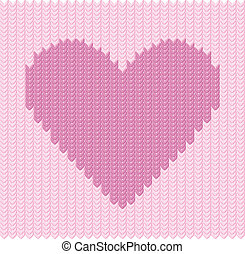 Stocking background with hearts