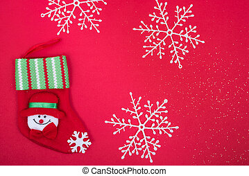 Stocking decoration in christmas holiday