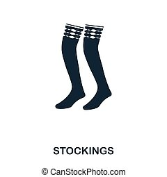 Stockings icon. Flat style icon design. UI. Illustration of stockings icon. Pictogram isolated on white. Ready to use in web design, apps, software, print.