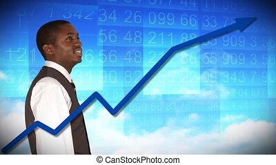 stockmarket, biznesmen, analizując
