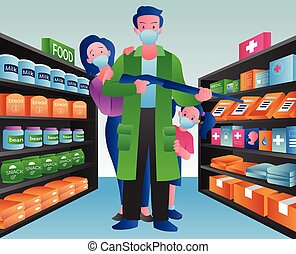 Stockpiling for Crisis - Concept illustration depicting a ...