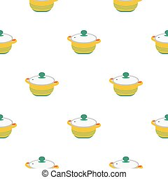 Stockpot icon in flat style isolated on white background....