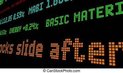 stocks, fort, début, diapo, après