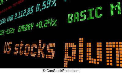 stocks, plummeted, nous, stockage, jour, leur, plus mauvais, ticker, 1987, since