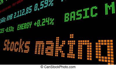stocks, stockage, mouvements, ticker, plus grand, midi, confection