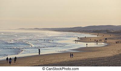 Stockton Beach before sunset. Port Stephens. Anna Bay....