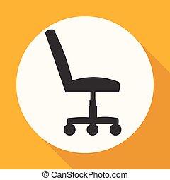 stoel, kantoor, con