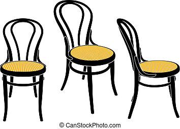 stoel, koffiehuis, wenen